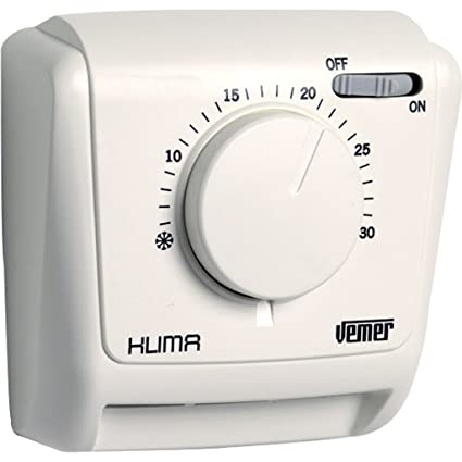 Vemer ve022000 Termostato Klima (AD Expansión de Gas de Pared, Blanco