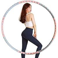 Qiccijoo Hula Hoop hoelahoep voor volwassenen, 8 segmenten, afneembare gewichten, instelbare hoelahoep voor fitness…