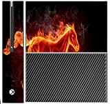 Flaming Horse Xbox One Console Vinyl Decal Sticker Skin by Sorem Designs