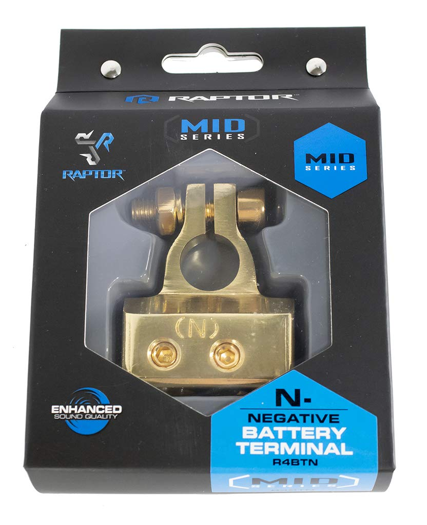 Positive and Negative Mid Series Battery Terminal Combo 1 4 8 AWG Output Raptor