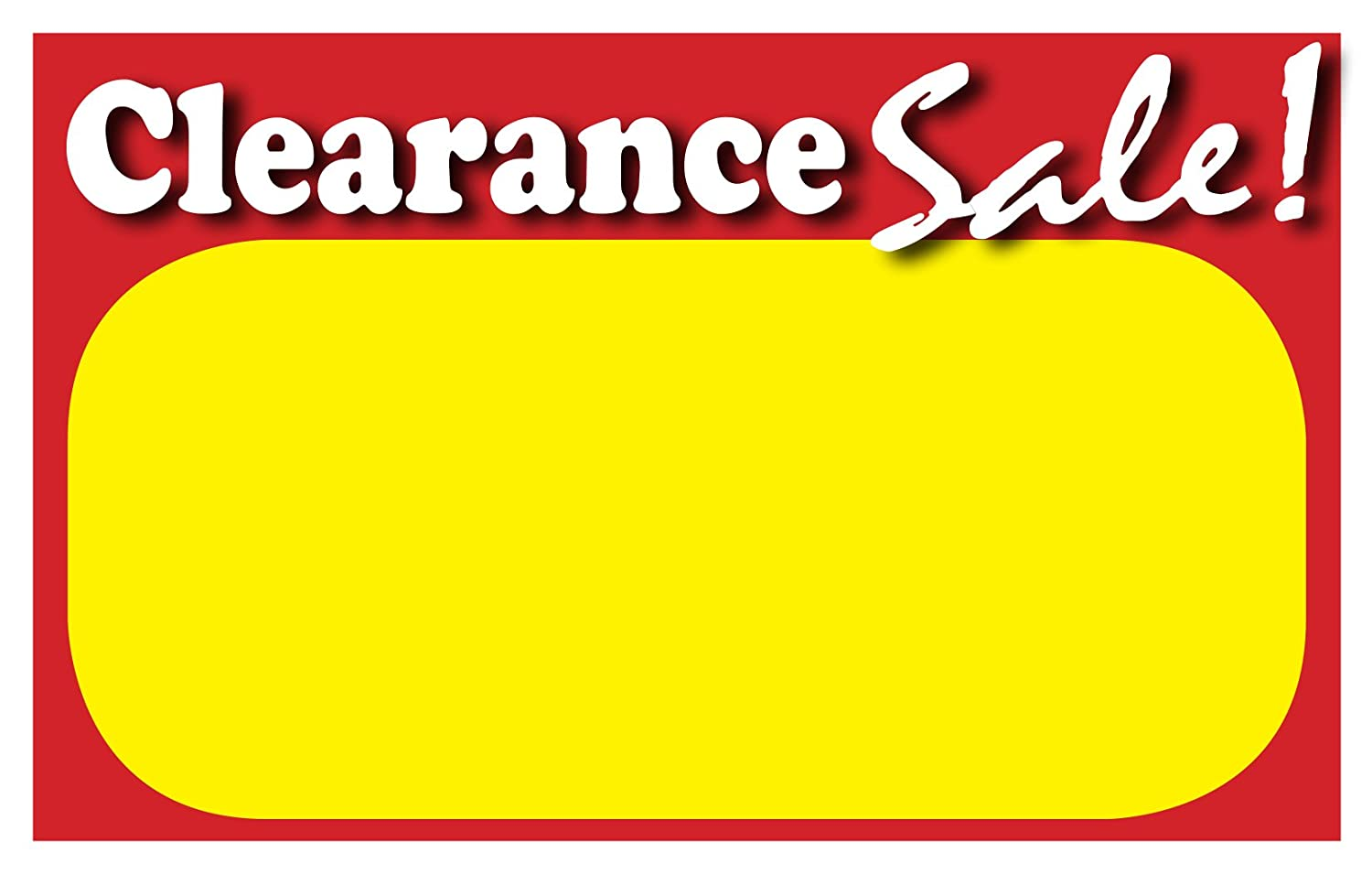 graphic relating to Retail Sale Signs Printable identify : RETAIL CLEARANCE Signs or symptoms, Template 5.5\