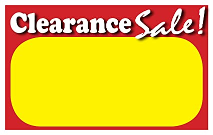 amazon com retail clearance signs template 5 5 x3 5 blank sale