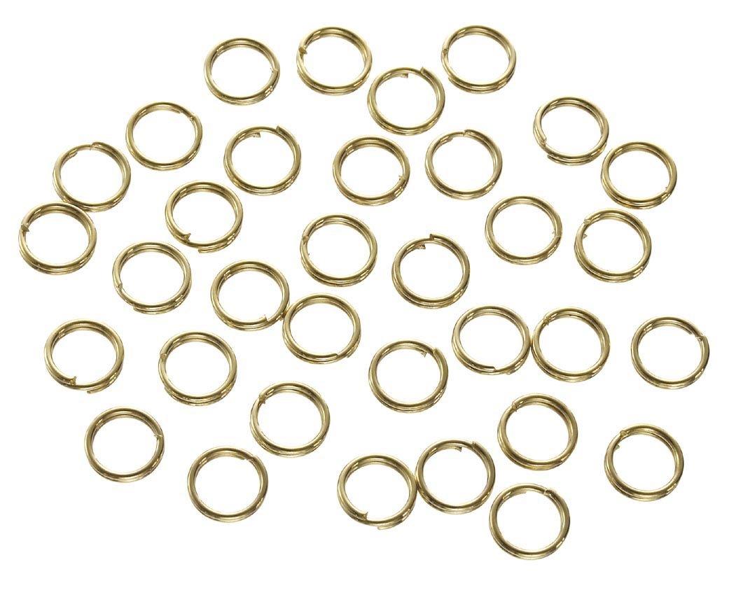 Brass 6 mm Darice 180 Piece Double Split Ring