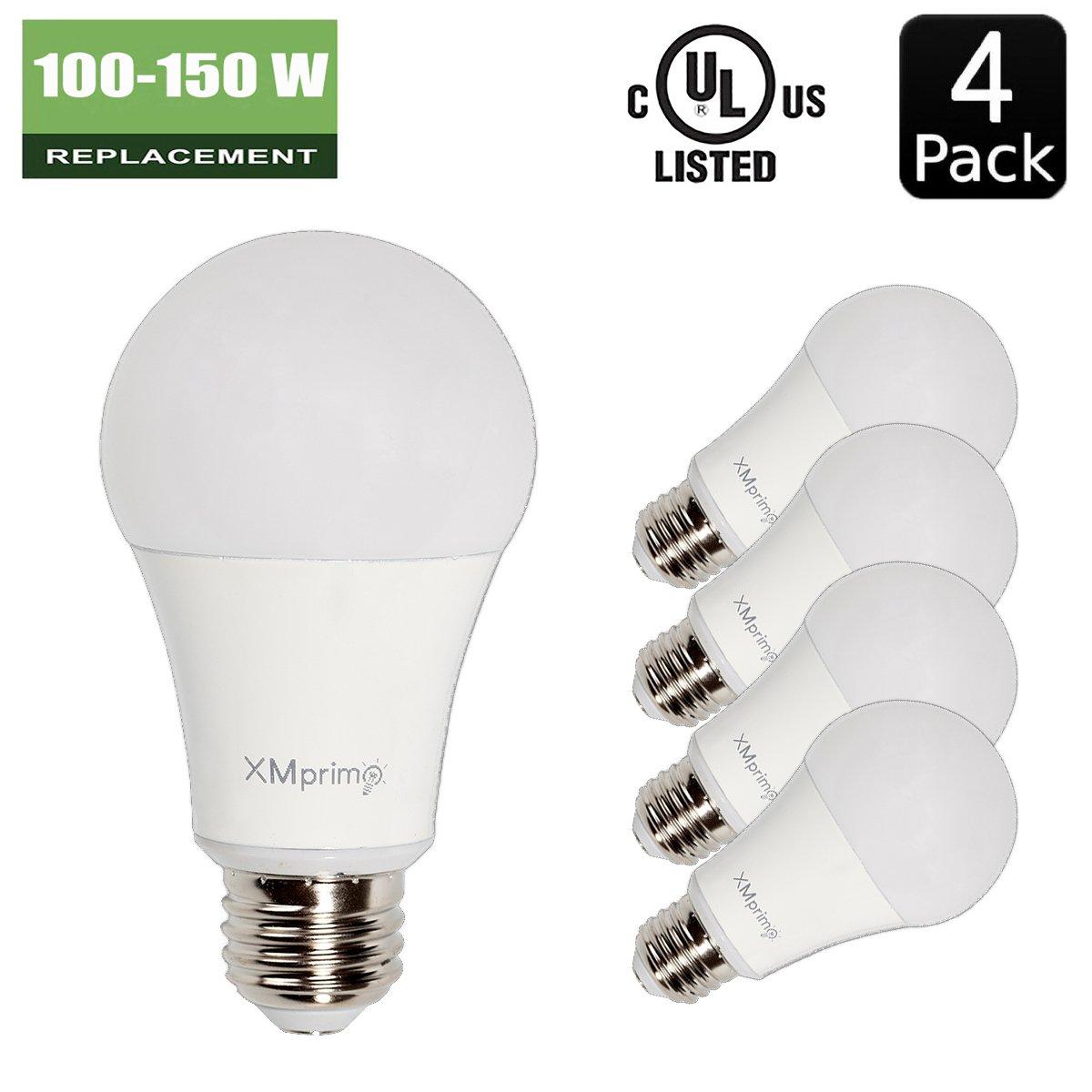 14W ( 100W - 150W Equivalent ) 4 Pack A19 LED Light Bulb, 1600 ...