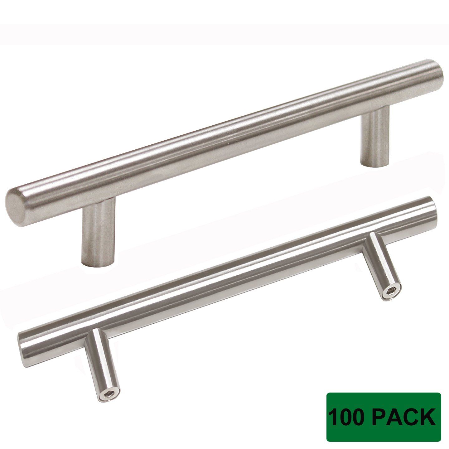 Probrico T Bar Cabinet Pulls Stainless Steel Kitchen Handles Wholesale (100Pack, CC:128mm)