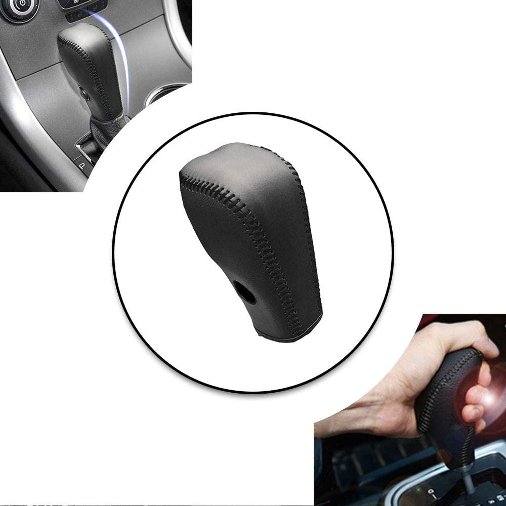 Genuine Leather Automatic Manual Car Truck Gear Shift Knob Shifter Lever Cover s