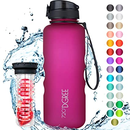 720°DGREE Botella de Agua uberBottle – 1,5 litros, 1500ml, Rosa ...