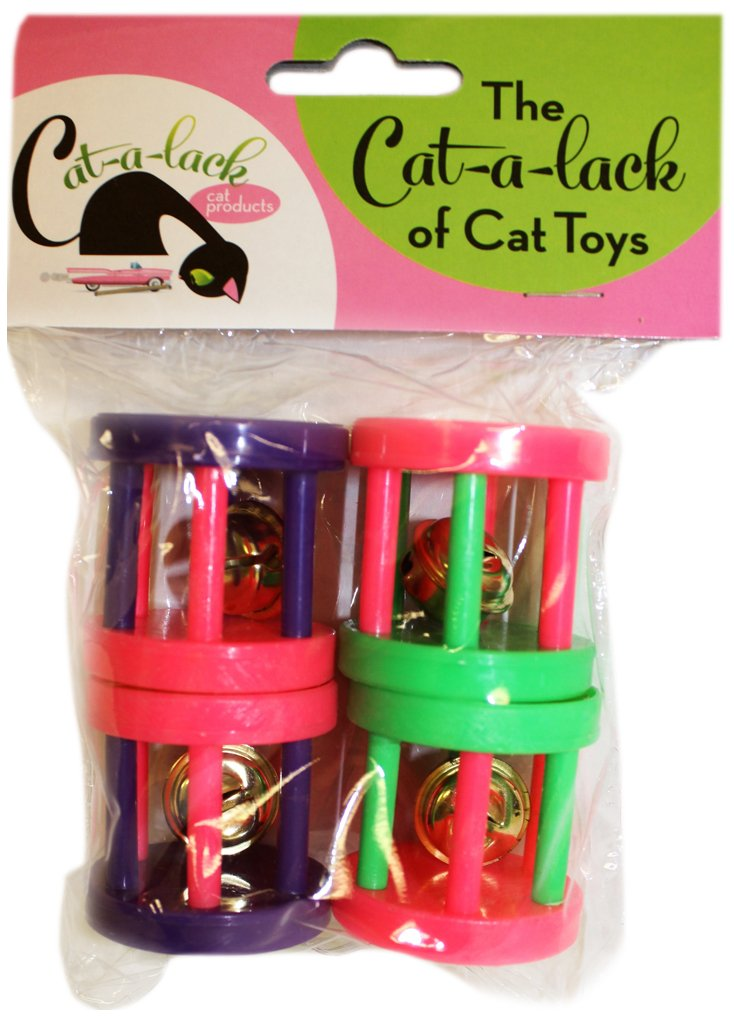 Cat-A-Lack 4-Piece Rolling Bell Cage Balls for Pets