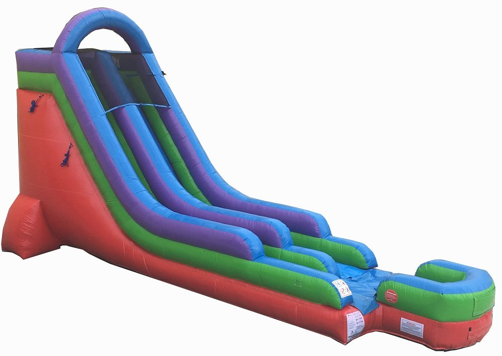 18-Foot Retro Inflatable Water Slide, Wet or Dry, Commercial Grade, 1 5 HP  Blower and Stakes Included
