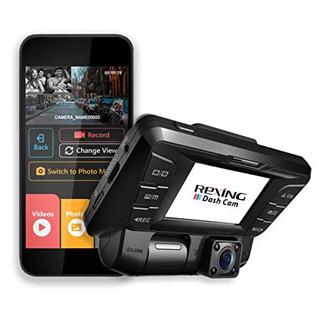 Rexing V2 Front Back Dual Camera 1080p Full HD Wi-Fi Ultra Wide Angle LCD Screen Car, Uber, Taxi Dash Cam