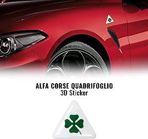 AMS 14049 Sticker Alfa Romeo 3D Quadrifoglio Green 5 cm