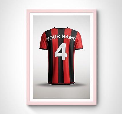 Personalizado Bournemouth cerezas casa camiseta de fútbol impresión – arte de la palabra regalo Idea Presente