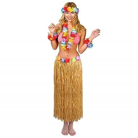 Eholder Disfraz Hawaiano con Cuello de Hula y Pulseras ...