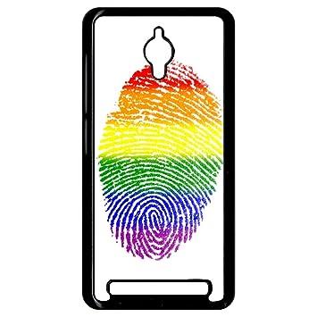 Carcasa Asus Zenfone Go huella dactilar bandera gay pride ...