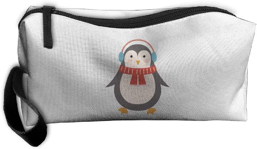 Mini Makeup Bag Cute Penguin Portable Cosmetic Bag Sewing Kit Medicine Bag for Home Office Travel Sport