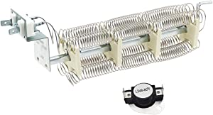 Siwdoy LA-1044 LA1044 Dryer Heat Element with High Limit Thermostat L248-80 Compatible with Maytag PYET444AYW, Maytag PYET244AYW, Admiral LNC7764A71 Dryer