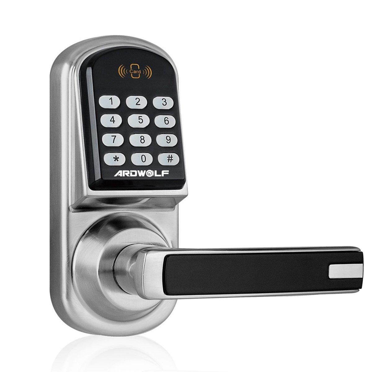 ARDWOLF A30 Smart Keypad Door Lock, Keyless Entry Digital Electronic Door-Locks with Reversible Lever and Automatic Locking