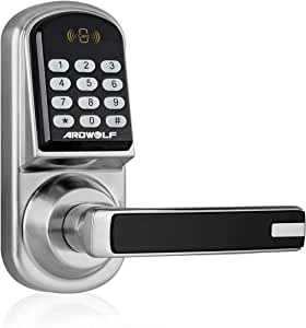 ARDWOLF A30 Keypad Door Lock, Keyless Entry Electronic Door-Locks with Reversible Lever and Automatic Locking