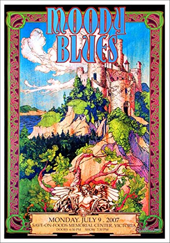Moody Blues Poster Gorgeous Hand-Signed Lithograph by Bob (Gorgeous Signed)
