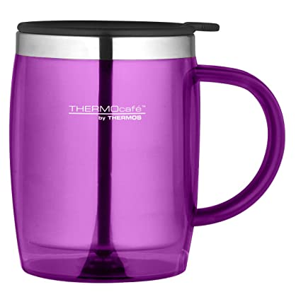 b46d96ba6be Thermos ThermoCafé Translucent Desk Mug, Pink, 450 ml: Amazon.co.uk:  Kitchen & Home