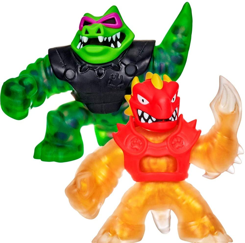 Heroes of Goo Jit Zu Water Blast Versus Pack - 2 Action Figure Pack Including Exclusive Golden Figure, Blazagon Vs Rockjaw