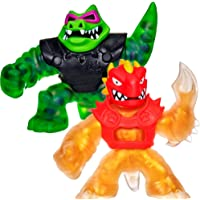 Heroes of Goo Jit Zu - 2 Pack of Action Figures, Blazgon vs Rock Jaw