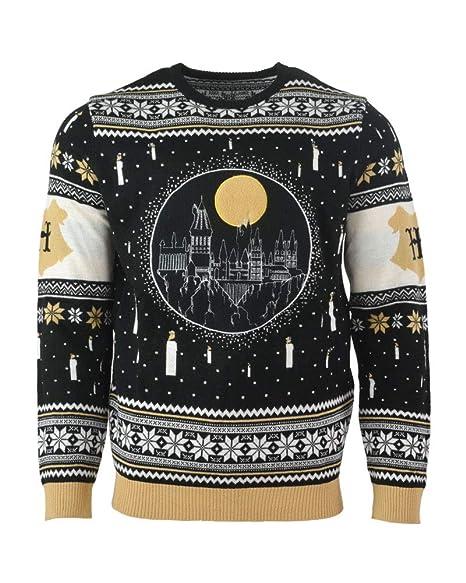 Official Harry Potter Hogwarts Castle Candles LED Christmas Jumper/Ugly  Sweater