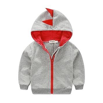 0a0fbb5d4 Amazon.com   Fairy Baby Baby Boys Long Sleeve Dinosaur Jacket ...