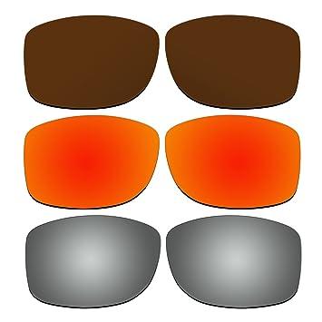 3 pares lentes polarizadas de recambio para Oakley Jupiter Squared Gafas de sol Pack P6