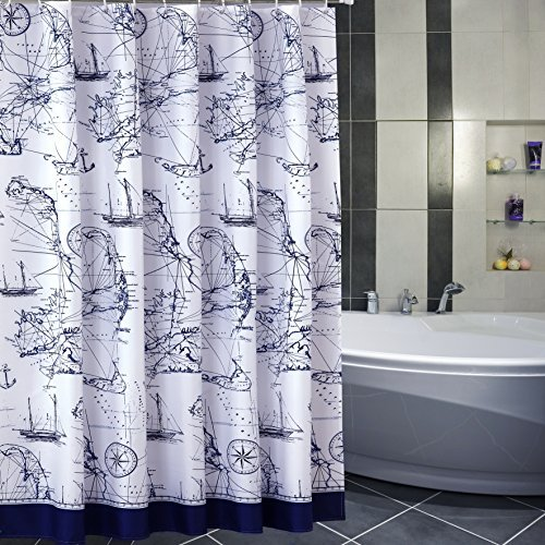 SHU UFANRO Shower Curtain Bathroom Waterproof Mildew Resistant Polyester Thickened Decoration Bath With