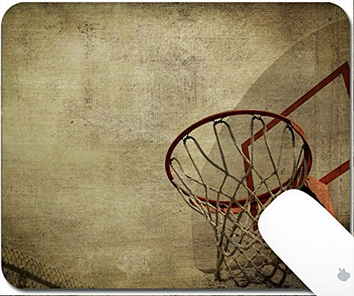 Luxlady Gaming Mousepad A grunge basketball basket background Lots of Copy space room and cool sepia filter feel 9.25in X 7.25in IMAGE: 3825329