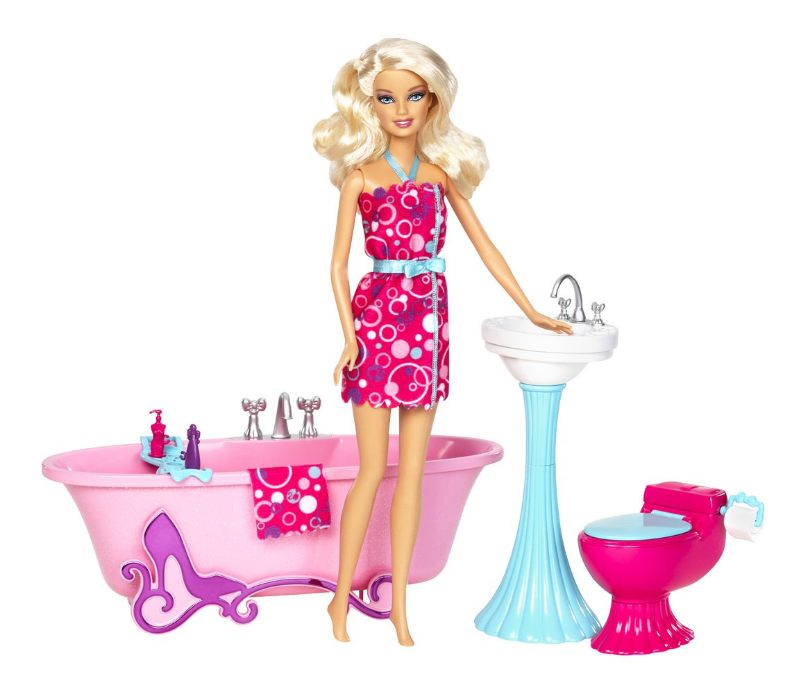 How to make a toilet bowl for a Barbie doll with your own hands