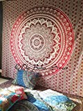 "Exclusive Branded Ombre Tapestry By ""The Boho Street"", Indian Mandala Wall Art, Hippie Wall Hanging, Bohemian Bedspread, (Approx 220 cm x 240 cm)"