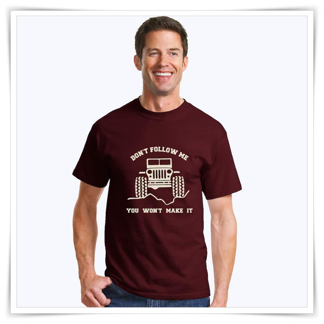 4605d5bf Amazon.com: Jeep T-Shirt | Don't Follow Me You Won't Make It | Jeep  Wrangler T-shirt: Handmade