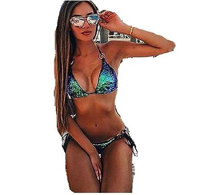 726f472abc ❤ Maillot de Bain Femme, Amlaiworld Sequins BRA Ensemble Bbikini Push Up  Beach Maillots de Bain Maillot de Bain: Amazon.fr: Vêtements et accessoires