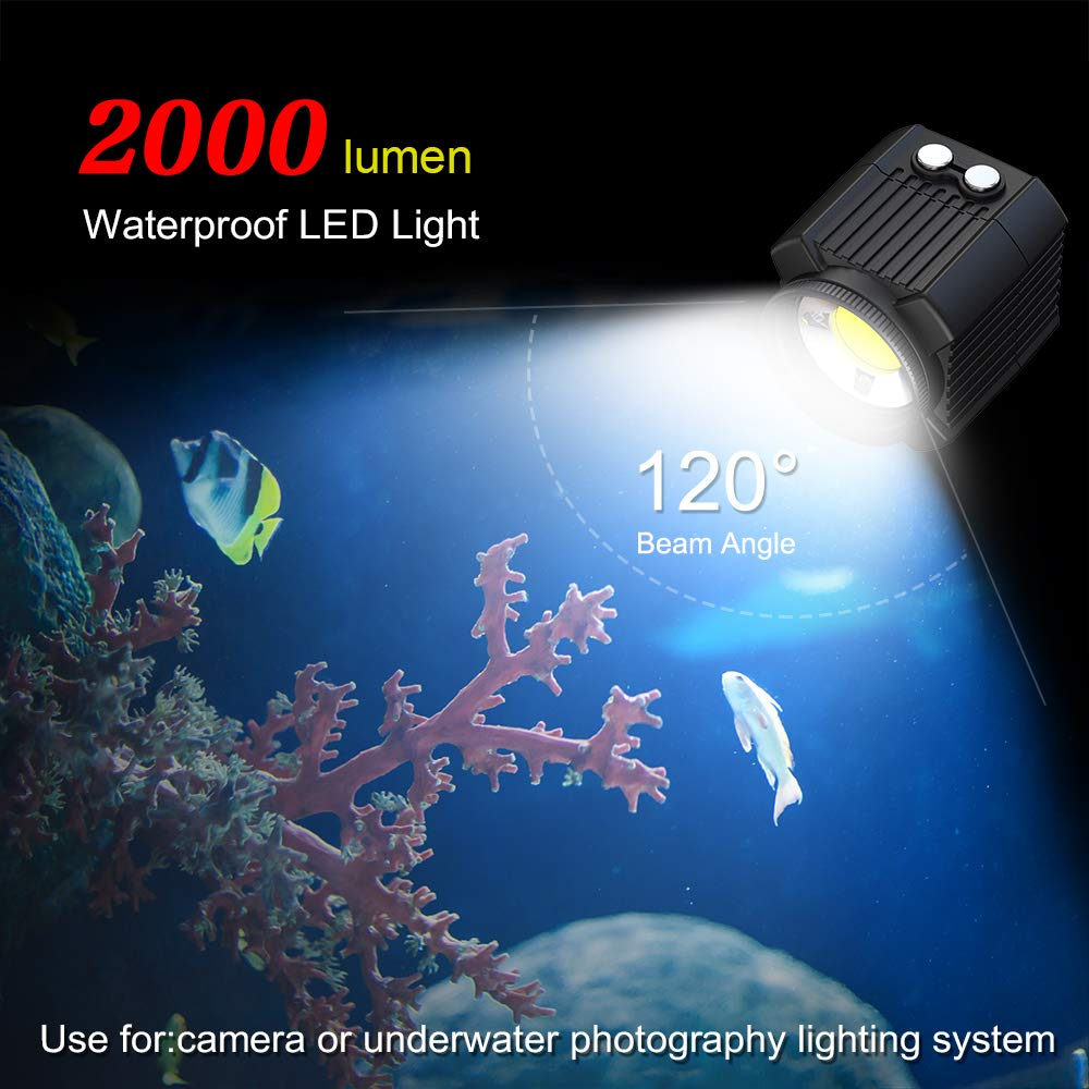 Orsda Diving Light High Power Mini Waterproof led Light Scuba Diving Lights Fill-in Light for Waterproof housing Underwater Photographic Lighting System by Orsda (Image #3)