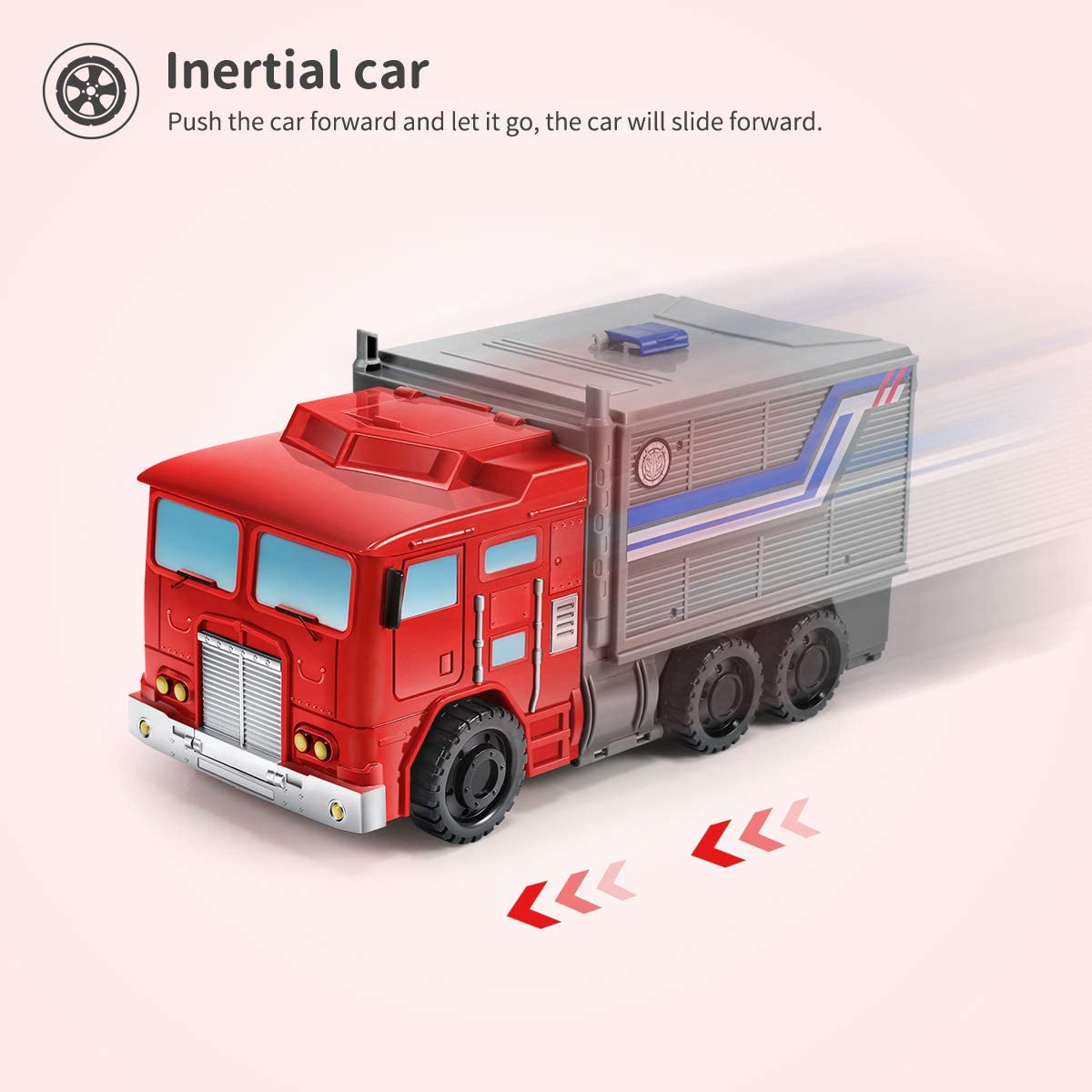 Toddler Kids Big Truck Transport Car Vehicle Transformer Parking Lot Race Tracks with 6 Pcs Diecast Metal Car Take Apart Toys Car Durable Garage Playset for Boys Geyiie Carrier Truck Toy