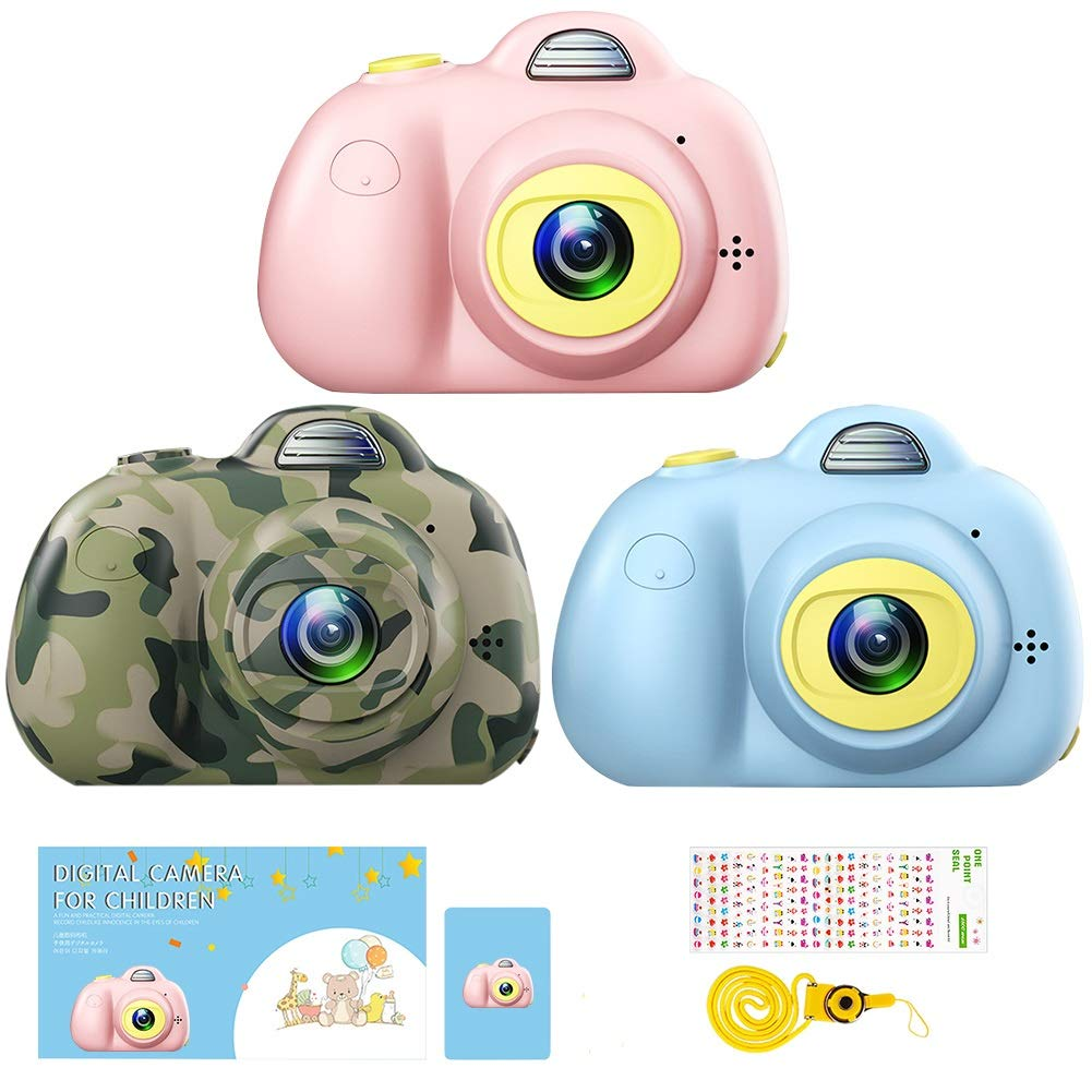 DIIGIITO Kids Camera Gifts for 4-8 Year Old Girls, Shockproof Cameras Great Gift Mini Child Camcorder for Little Girl with Soft Silicone Shell for Outdoor Play,(16GB Memory Card Included) (Pink) by DIIGIITO (Image #7)