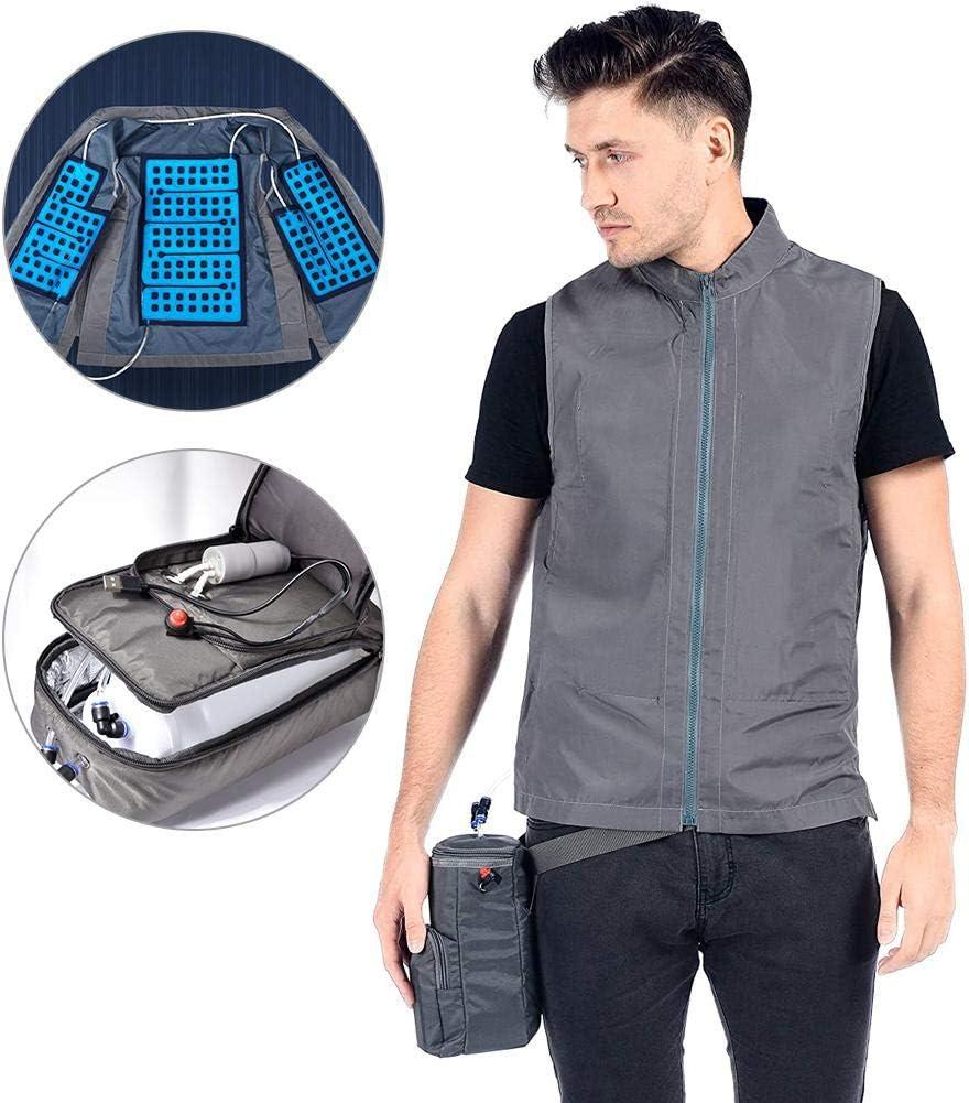 Obobb Summer Cooling Vest Cool Vest Rechargeable Cooling Vest for Weeders Industrial Paintwork Woodworkers