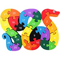 MagiDeal Kids Puzzle Wooden Numbers Puzzle Educational Toys