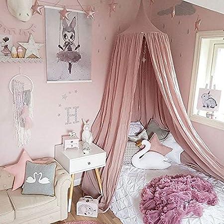 Baumwoll-Leinen GUOYIHUA Raum Dekoration f/ür Baby/ rose 240 cm /Kinder Betthimmel rund Dome Kids Prinzessin Play Zelte Kinderzimmer Dekoration Baumwolle Moskitonetz