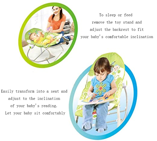 Amazon.com: LZTET Soothing Vibration Baby Rocking Chair ...