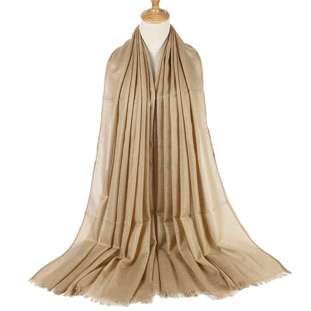 Evening Wrap Shawl Womens Glitter Metallic Wedding Scarfs Scarves for Prom Party Bridal Dress (Gold)