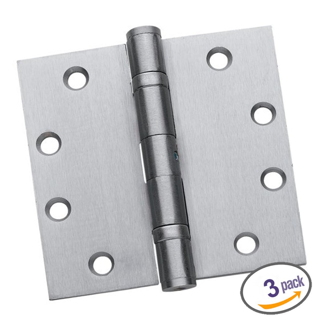 Exceptionnel Dynasty Hardware Commercial Grade Ball Bearing Door Hinge 4 1/2 X 4 1/2  Full Mortise Brushed Chrome, Non Removable Pin    3  PACK     Amazon.com