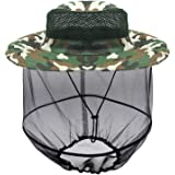 Luwint Mosquito Head Net Hat, Camo Sun Hat Beekeeper Hat with Insect Repellent Netting Protection from Bug Bee Mosquito for O