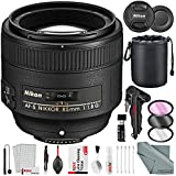 Nikon AF-S NIKKOR 85mm f/1.8G Medium Telephoto Lens and Deluxe Bundle with Xpix Professional Accessories + More