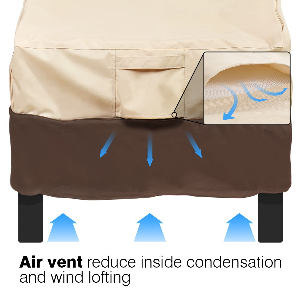 Vailge Patio Chair Covers, Lounge Deep Seat Cover, Heavy Duty and Waterproof Outdoor Lawn Patio Furniture Covers (4 Pack - Medium, Beige & Brown) by Vailge (Image #8)