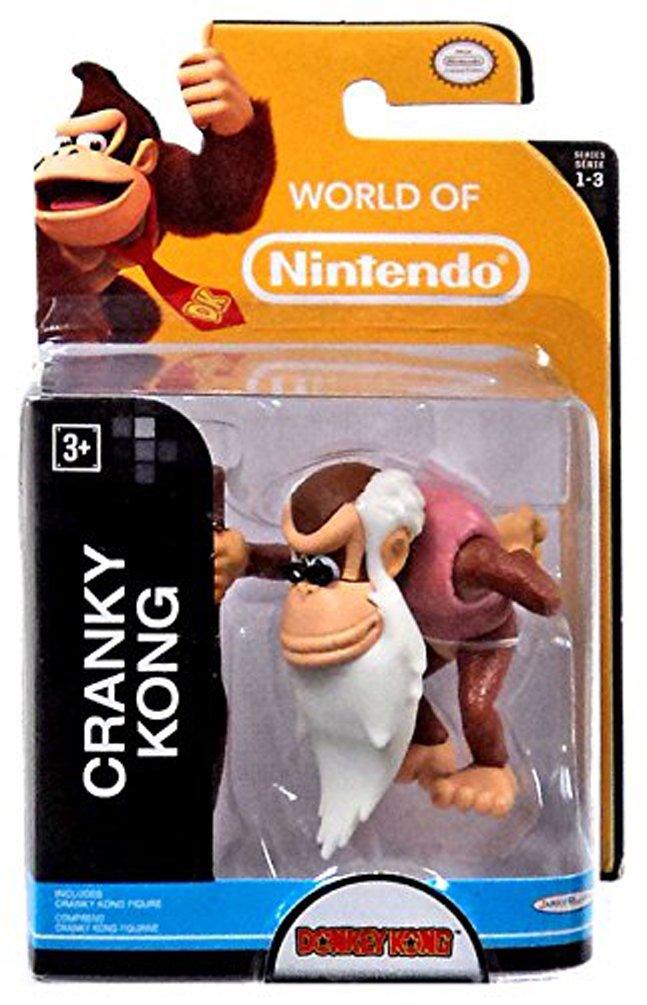 World of Nintendo, Donkey Kong, Cranky Kong Figure, 2.5 Inches
