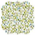Bella Blvd Campout Woodlands Invisibles Die Cut Plastic Sheet