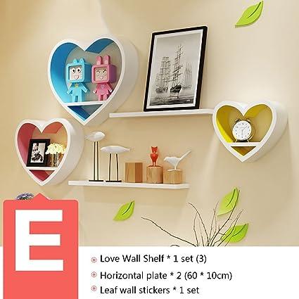 Amazon.com: PM-Borders Heart shape Wall Shelf Corner Shelf Wall ...